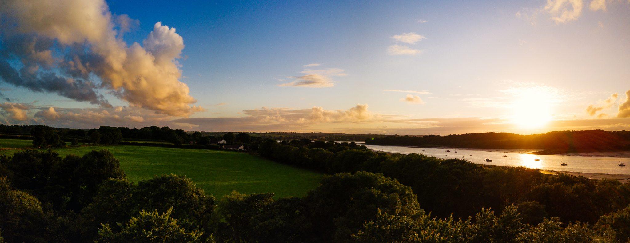 Mavic Pro Landshipping Sunset