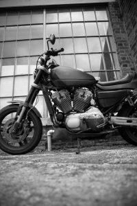 Bare Bones Harley Davidson B&W Photography