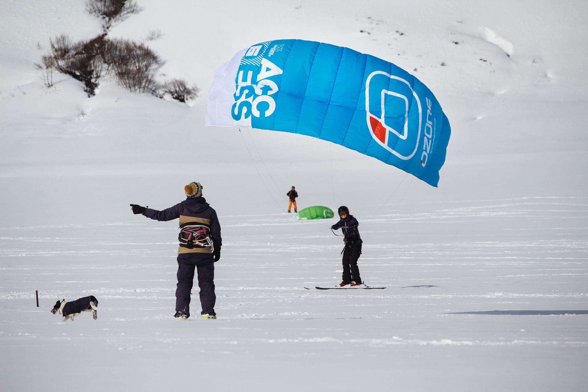 The Big Blue Experience Snow kiting