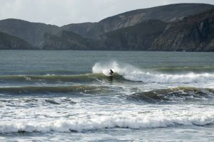 Surfing newgale